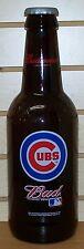BUDWEISER ~ 2001 ~ CHICAGO CUBS ~ MAJOR LEAGUE BASEBALL ~ LARGE GLASS BOTTLE