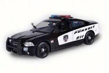 2011 DODGE CHARGER PURSUIT POLICE W/LIGHT & SOUND 1/24 DIECAST CAR MOTOR MAX