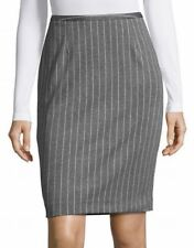 Tommy Hilfiger Gray Striped Women's Size 2 Straight Pencil Skirt $89