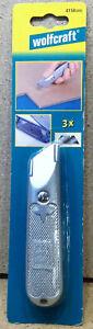 Wolfcraft Standard- Feststehklingenmesser Cuttermesser 4150000