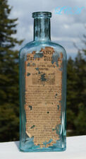 LARGE antique BOTANIC NERVE BITTERS w/ embossed pic TRADE MARK in FRONT PANEL