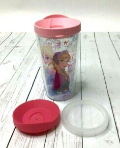 Tervis Tumbler 16oz Disney Frozen Elsa Anna Hot Cold Cup 3 Lids Pink Sip Straw