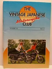 Vintage Japanese Motorcycle Club VJMC Newsletter Magazine Volume 18 #2 1999