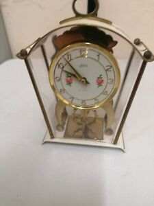 Schatz & Sohne German Vintage Mechanical Mantel Clock 2 Jewel 8 Day Vintage