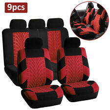 9pcs Universal Car Full Seat Covers Front Rear Car Interior Seat Protect Cover