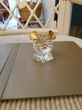 Decorative collectibles, Mouse, Crystal, gold tone whiskers, eyes and ears.