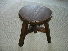 Arts and Crafts mission style hand made childs seat three legs no nails stained
