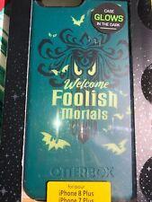 Disney Parks Otter Box iPhone 7 plus 8 plus Haunted Mansion Foolish Mortals Case