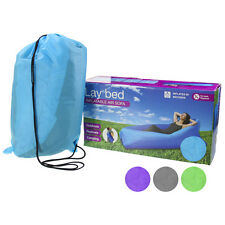Fast Inflatable Sleeping Lay Bag Air Sofa Bed Camping Hangout Lounge Chair