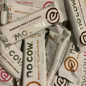 NEW! Lot of 96 Assorted No Cow Protein Bars 2.1 oz 20g+ Vegan Plant Base Keto 81