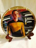 Commander Data Star Trek The Next Generation Ernst Plate Silver Lined #4040