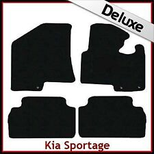 Kia Sportage Mk3 2010-2015 Tailored LUXURY 1300g Carpet Car Floor Mats BLACK