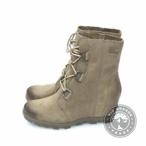 NEW Sorel NL 3018-240 Women's Joan of Arctic Wedge II Boots in Ash Brown - 9.5