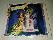 Disney's Beauty and The Beast 1993 16 Mo. Daydreams Calendar, New