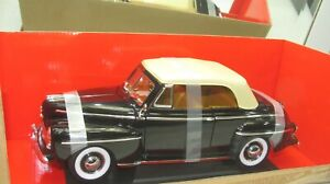 1948 FORD CONVERTIBLE SOFT TOP BLACK NEW IN BOX 1:18