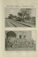1903 PRINT INDIAN RAILWAY VOLUNTEER CORPS APPA BRIDGE HEAD BENGAL NAGPUR CORPS