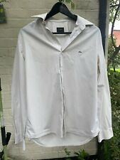Lacoste Mens Casual Shirt Long Sleeve Top Summer Regular Fit White Size 40