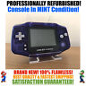 *NEW GLASS SCREEN* Nintendo Game Boy Advance GBA Clear Blue System MINT NEW
