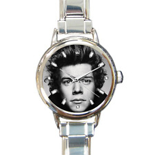 Harry Styles One Direction Quality Round Italian Charm Wrist Watch 16 Links Gift