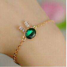 New Girls Women Hot Fashion Green Stone Bracelet Jewellery Cubic Zirconia