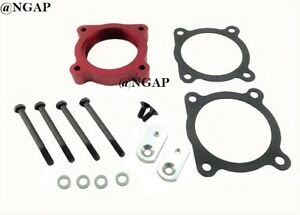 Billet Red Throttle Body Spacer For 05-19 Nissan Frontier & 05-15 Xterra 4.0L V6