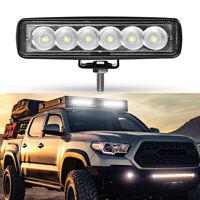 "6"" 18W LED Work Light Bar Flood UTE SUV Truck ATV 4WD Offroad Fog Driving Lamp"
