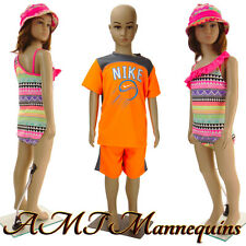 Girl /Boy full body Mannequins+stand, Head, arms turn, 1 child manikin CB1+1Wig