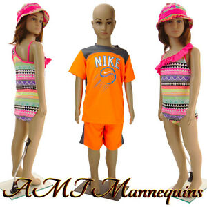 Girl/Boy full body Mannequins+ stand, Realistic looking-1 child manikin CB1+1Wig