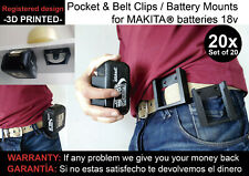 20x Battery mounts MAKITA 18v wall support bracket Shelf Rack Stand belt mount