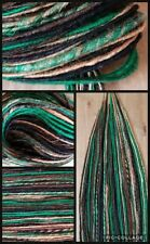 Dreadlock extensions army colours synth dreads synthetic green goth punk gothic