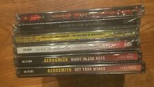 6- NEW/ SEALED- AEROSMITH CD'S ,THE VERY BEST, NIGHT IN THE RUTS, & MORE . ROCK