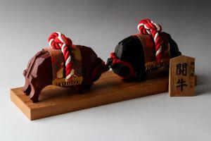 Japanese Wood Carving ITTOBORI Bullfight Uwajima Single Knife Folk Crafts #25368