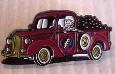 GRATEFUL DEAD STYLE RELIX TRUCKIN TRUCKING 2 inch 2 POSTS CLOISSONE METAL PIN