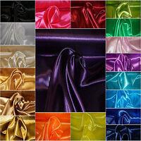 Satin Stoff Deko Kleidung Hochzeit Futterstoff Gardinen glänzend 150 cm breit