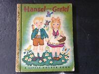 VINTAGE 1943 A LITTLE GOLDEN BOOK Hansel and Gretel