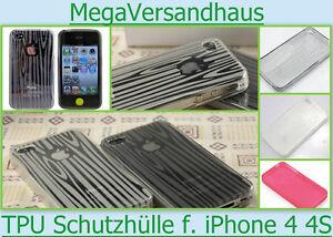 TPU Case Bumper Apple iPhone 4 4S Silikon Schutz Hülle Cover Tasche Etui Schale