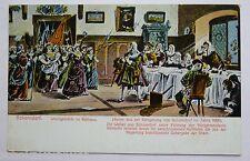 AK Schorndorf--Belagerungszene um 1688 aus dem Rathaus--
