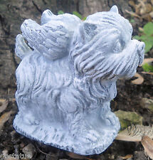 Latex Yorkie terrier dog angel mold plaster concrete mould see more store
