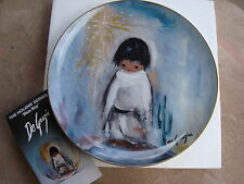 "BLUE BOY DeGrazia Collector Plate 10"" #1267 Holiday Series Limited Edition NIB"