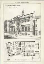 1908 Northampton Public Library, Design, Plan, He Danford Architect