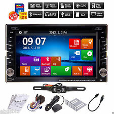 Backup Camera+GPS Double Din Car Stereo Radio DVD mp3 Player Bluetooth with Map