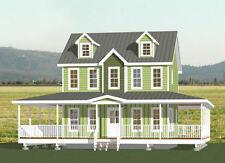 24x24 House -- 2 Bedroom 2.5 Bath -- PDF FloorPlan -- 1,092 sqft -- Model 11C