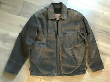 CIRO CITTERIO Jacket Mid Brown Suede Leather Zip Up Fleece Lining Pockets M