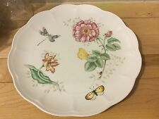 LENOX 'BUTTERFLY MEADOW' DRAGONFLY 10 1/2 in. DINNER PLATE Scalloped Edges