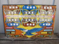 "Vintage Williams Pinball Machine ""THUNDERBIRDS"" Scoreboard Graphics Back Glass"