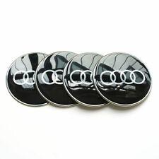 "4X Black 65mm 2.56"" Car Wheel Center Hub Cap Emblem Badge Decal Sticker for Audi"