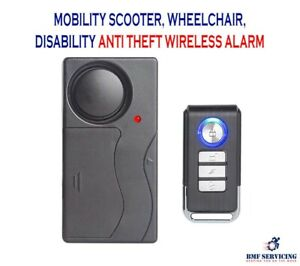 Mobility Scooter Anti Theft Wireless Alarm Lock SecurityDisability Safety Alarm