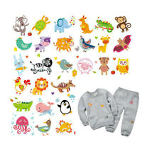 Cute Animals Patches DIY Heat Transfer Iron On Patch Washable Clothes Sticker AU