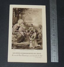 CHROMO 1925 IMAGE PIEUSE CATHOLICISME HOLY CARD COMMUNION ENSEIGNEMENTS JESUS