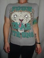 Four Year Strong Lion Black Cotton Graphic Tee Size Jrs L Punk Rock Hardcore